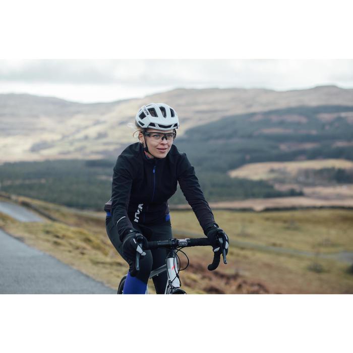 Fietsjas racefiets 500 dames zwart blauw