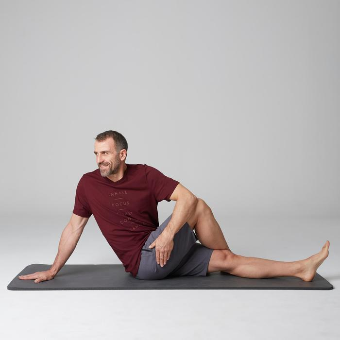 T-Shirt 520 V-Ausschnitt Regular Gym Stretching Herren Print bordeaux