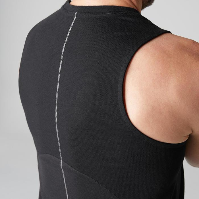 Débardeur 900 slim Gym Stretching & Pilates homme noir - 1501904