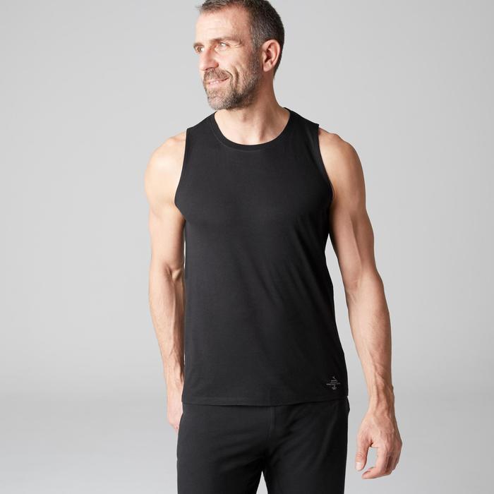 Débardeur 900 slim Gym Stretching & Pilates homme noir - 1501911