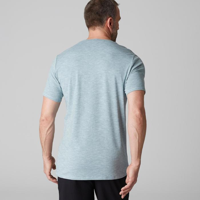 T-Shirt Gym 500 Regular Fitness Herren hellblau