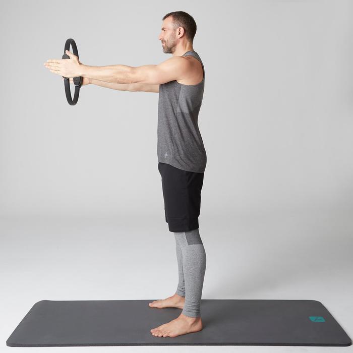 Débardeur 900 slim Gym Stretching & Pilates homme gris foncé chiné - 1501919