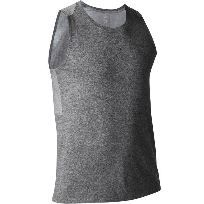 Tank-Shirt Gym 900 Slim Herren Fitness dunkelgraumeliert