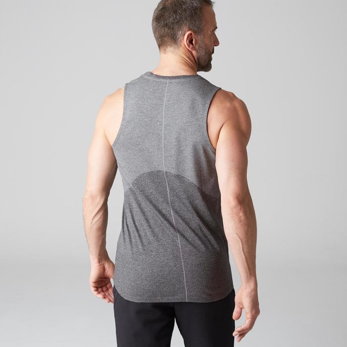 Débardeur 900 slim Gym Stretching & Pilates homme gris foncé chiné - 1501935