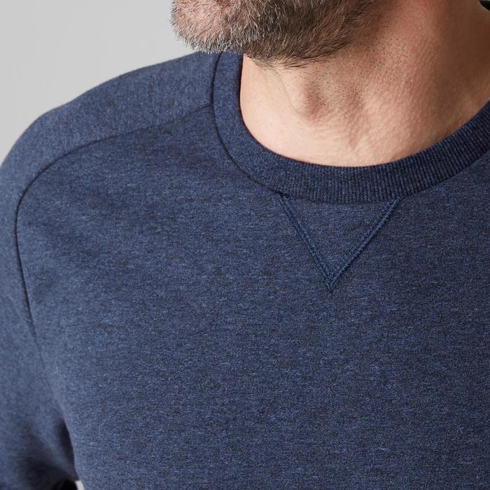 Herensweater 500 voor gym en stretching blauw