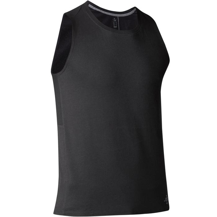 Débardeur 900 slim Gym Stretching & Pilates homme noir - 1501940