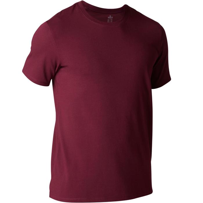 T-Shirt Gym 500 Regular Fitness Herren bordeaux