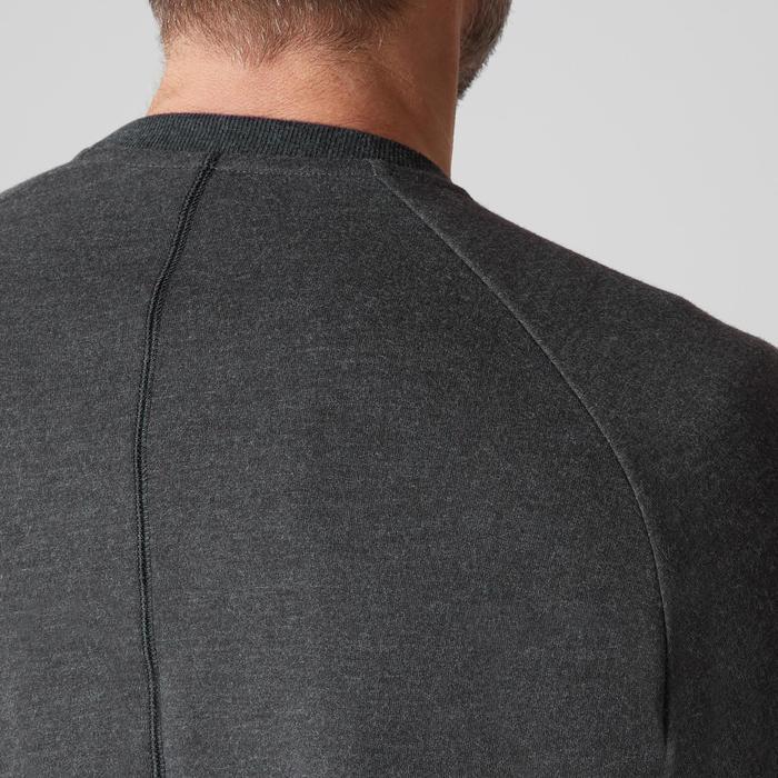 Herensweater 500 voor gym en stretching donkergrijs