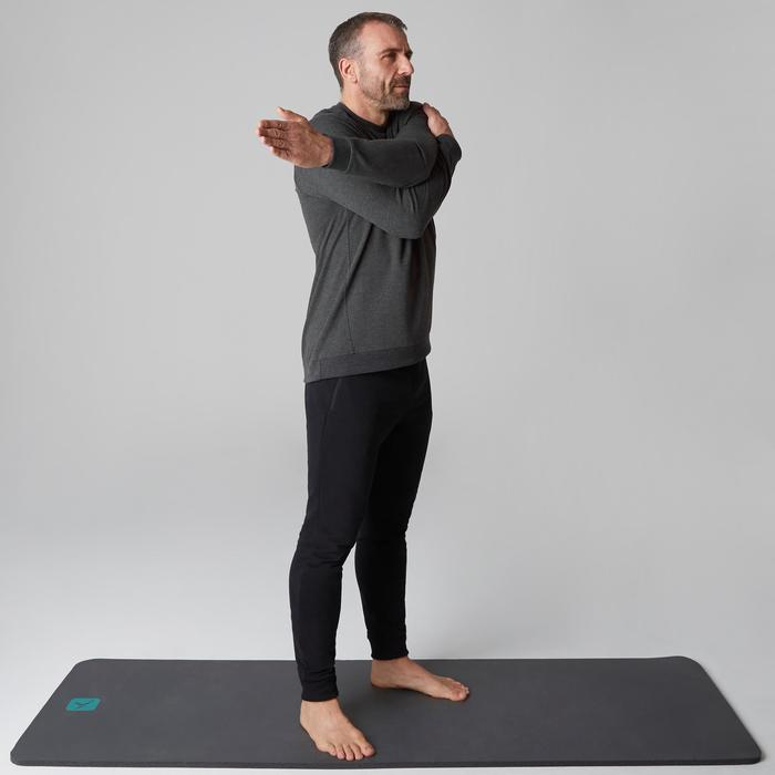 Sweat 500 Gym Stretching homme gris foncé