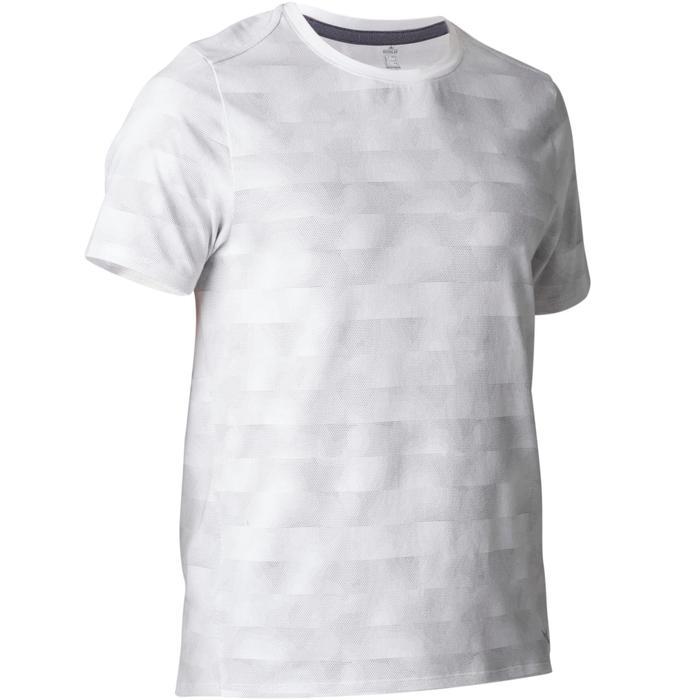 T-Shirt 520 regular col rond Gym & Pilates AOP homme - 1501964