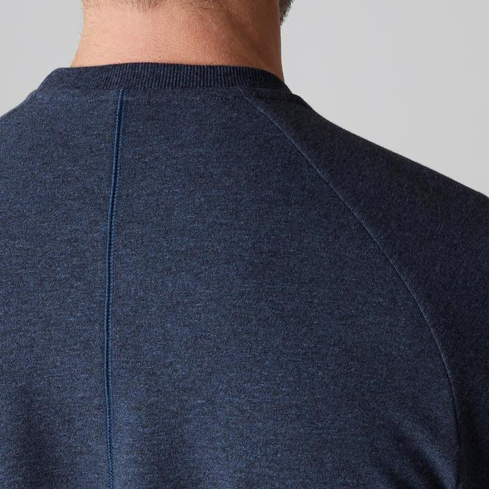 Sweat 500 Gym Stretching homme bleu