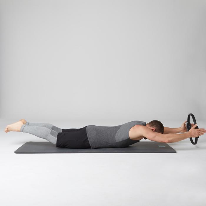 Débardeur 900 slim Gym Stretching & Pilates homme gris foncé chiné - 1501988