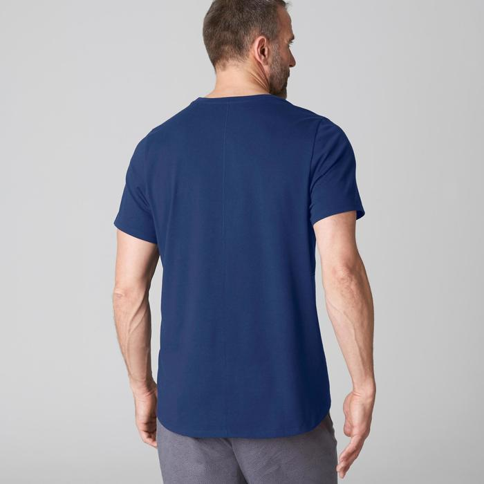 T-Shirt 520 regular col rond Gym & Pilates blanc AOP homme - 1501989