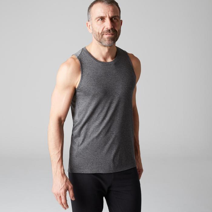 Débardeur 900 slim Gym Stretching & Pilates homme gris foncé chiné - 1501992