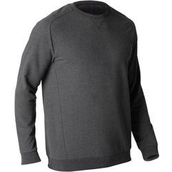 Sweatshirt 500 Pilates sanfte Gymnastik Herren dunkelgrau