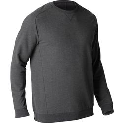 Sweat 500 Gym Stretching homme gris foncé