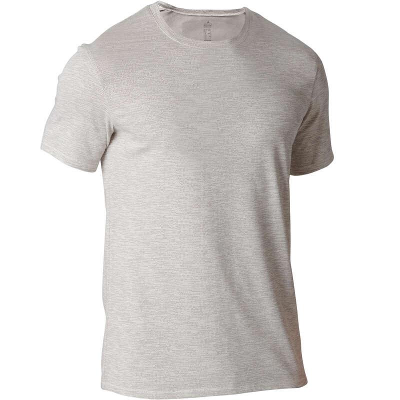 MAN GYM, PILATES APPAREL Clothing - 500 Regular Gym T-Shirt Beige NYAMBA - Tops