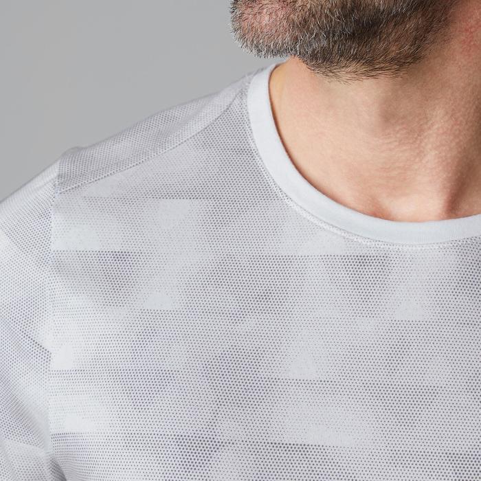 T-Shirt 520 regular col rond Gym & Pilates AOP homme - 1502000