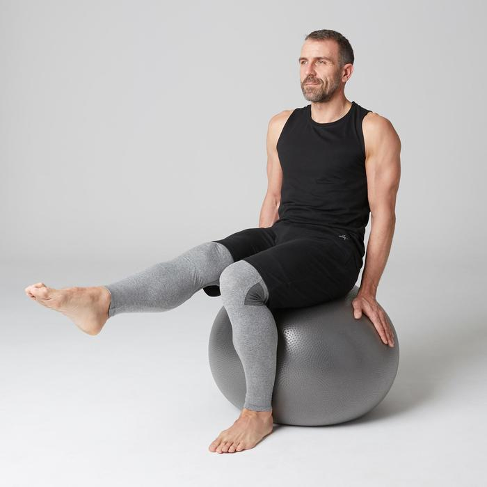 Mouwloos herenshirt 900 gym stretching pilates slim fit zwart
