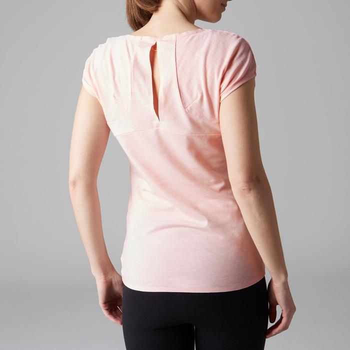 Camiseta De Manga Corta Gimnasia Y Pilates Domyos 900 Mujer Rosa