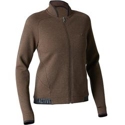 Veste 900 Gym Stretching femme marron chiné