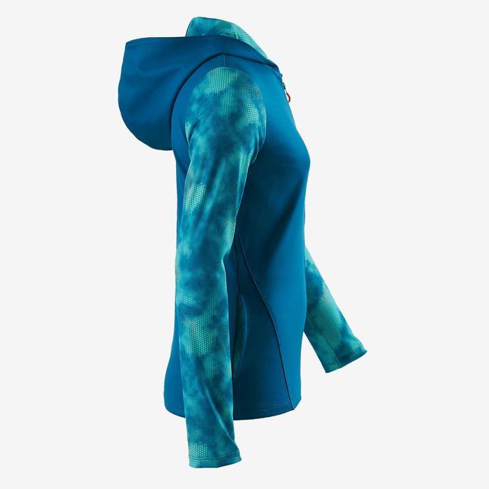 Veste capuche S900 Gym fille imprimé bleu