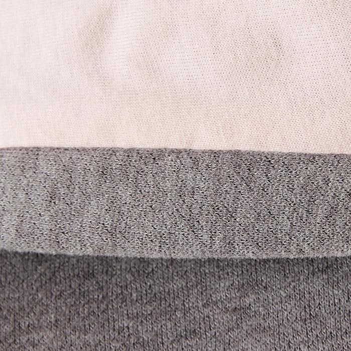Sudadera de felpa 500 Gimnasia niña gris estampado