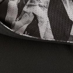 Chaqueta capucha S900 Gimnasia niña estampado gris