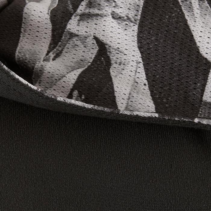 Gym hoodie met rits S900 voor meisjes grijs met print