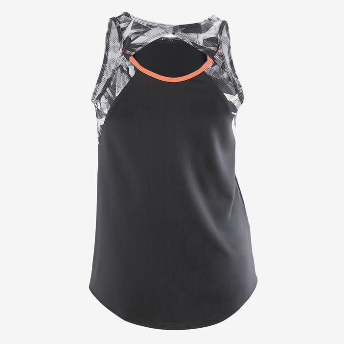 Gymtop S900 voor meisjes print grijs