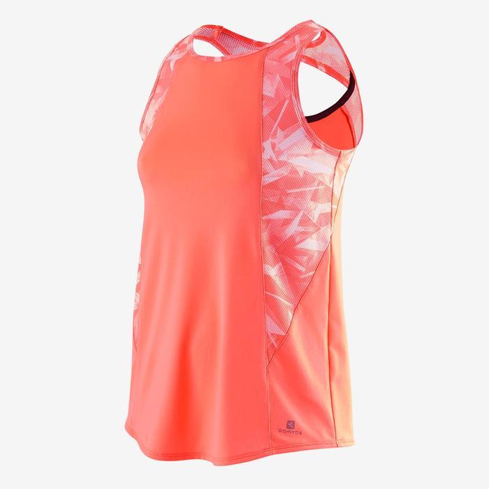 Camiseta sin mangas S900 Gimnasia niña estampado coral