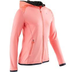 Gym hoodie met rits S900 voor meisjes koraal