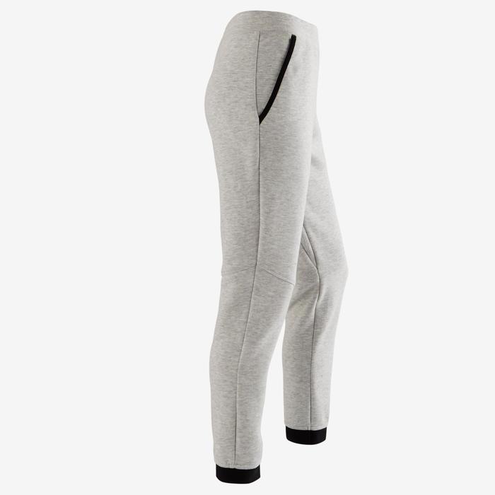 Pantalon spacer 500 Gym fille gris foncé - 1502103