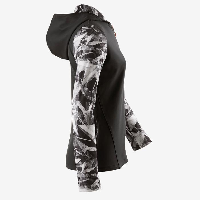 Veste capuche S900 Gym fille imprimé gris