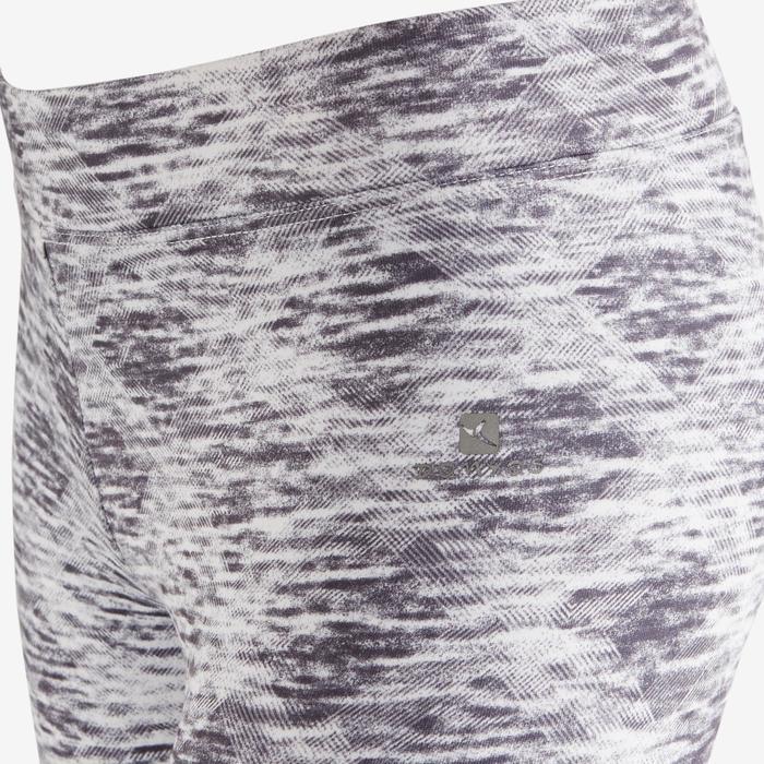 Leggings cálidos S500 Gimnasia niña estampado gris