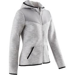 女童Spacer健身外套500 - 灰色
