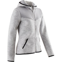 Veste spacer 500 Gymnastique fille gris