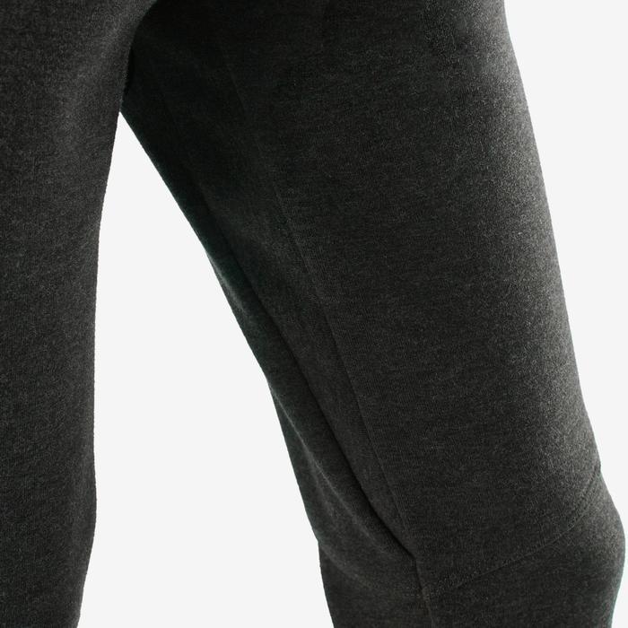Pantalon spacer 500 Gym fille gris foncé
