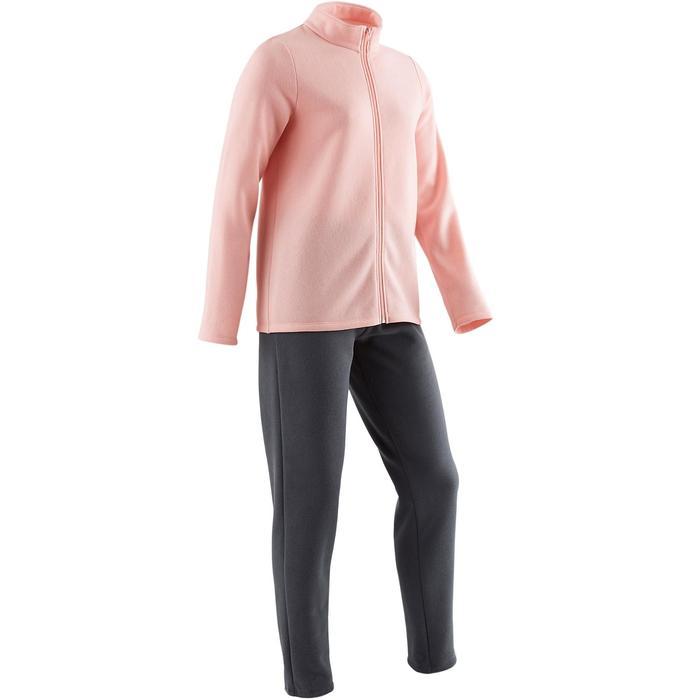 Survêtement chaud zippé imprimé Gym fille Warm'y Zip - 1502141