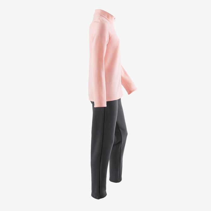 Survêtement chaud zippé imprimé Gym fille Warm'y Zip - 1502144