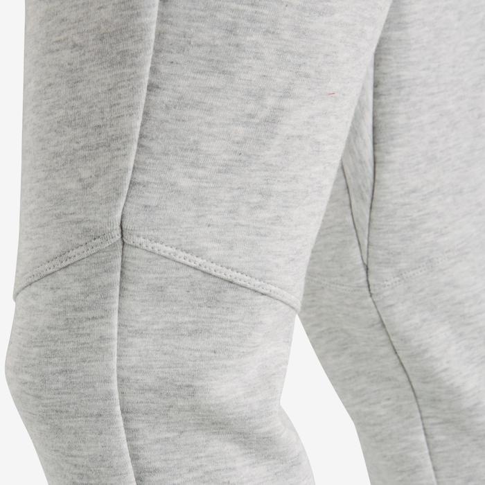Pantalón spacer 500 Gimnasia niña gris claro