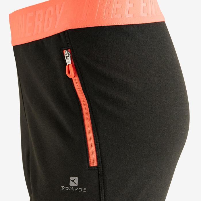 Pantalón slim S900 Gimnasia niña gris oscuro