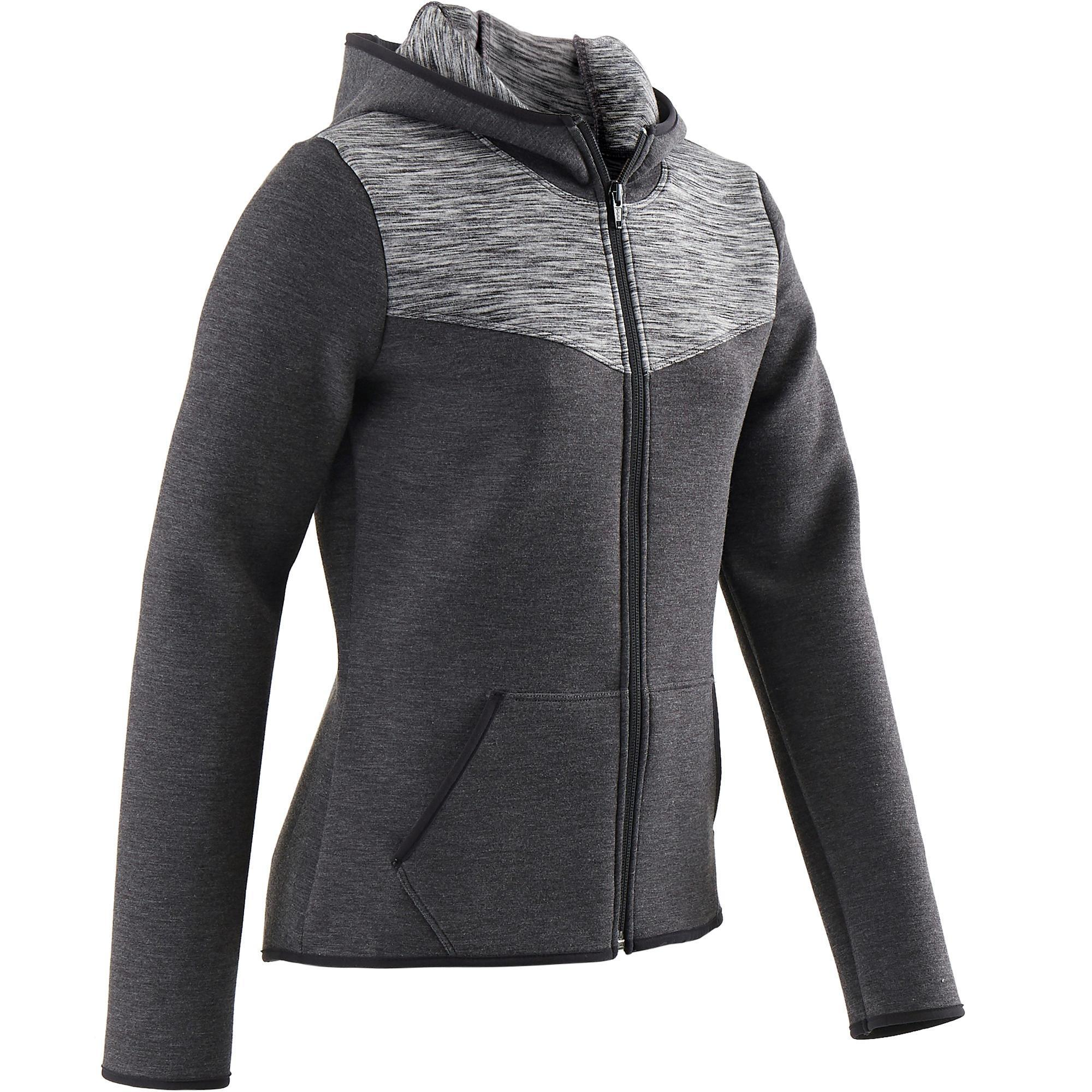 Kinder Kapuzenjacke Spacer 500 Gym Kinder schwarz | 03608419175530