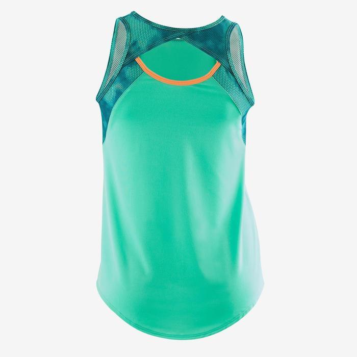 Débardeur S900 Gym Fille imprimé vert