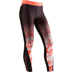 Legging S900 Gym Fille dégradé noir orange