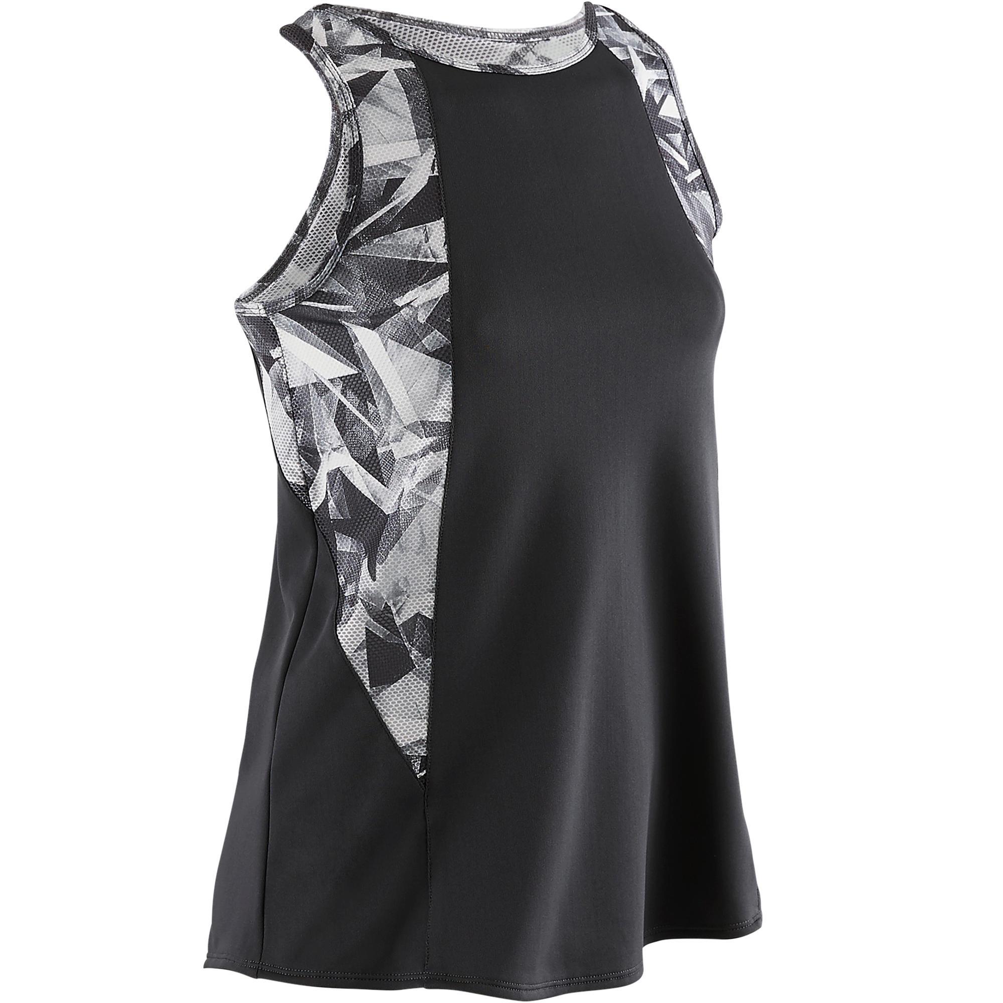 S900 Girls' Gym Tank Top - Grey Print