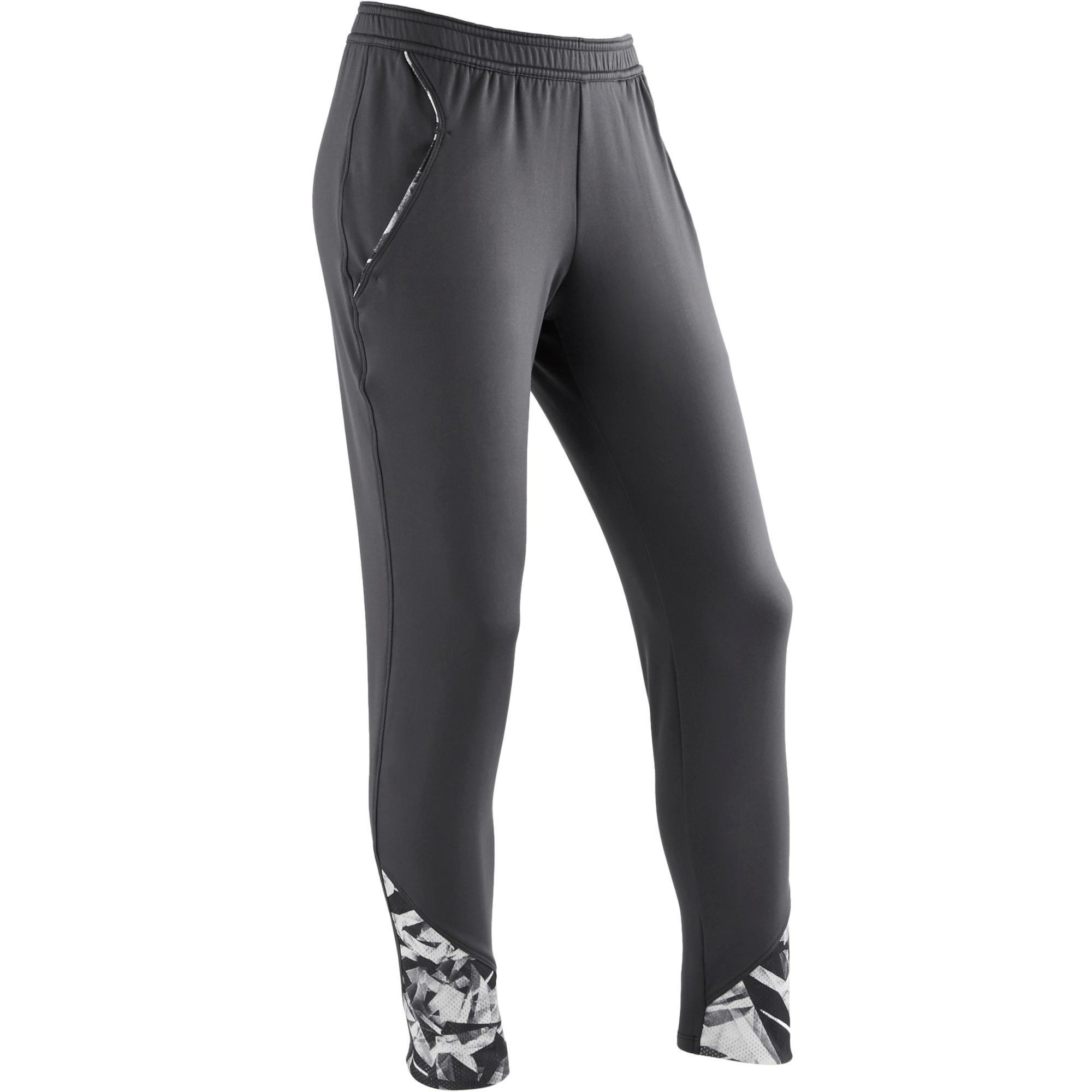pantalon s900 gym fille gris domyos by decathlon. Black Bedroom Furniture Sets. Home Design Ideas