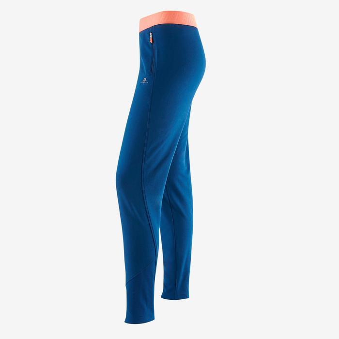 Pantalon slim S900 Gym Fille bleu