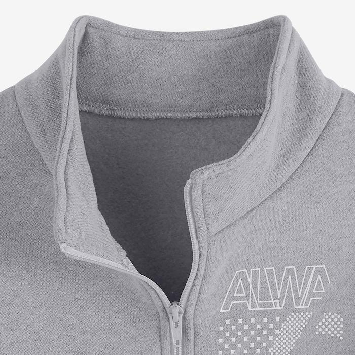 Survêtement WARMY'ZIP chaud 100 fille GYM ENFANT gris