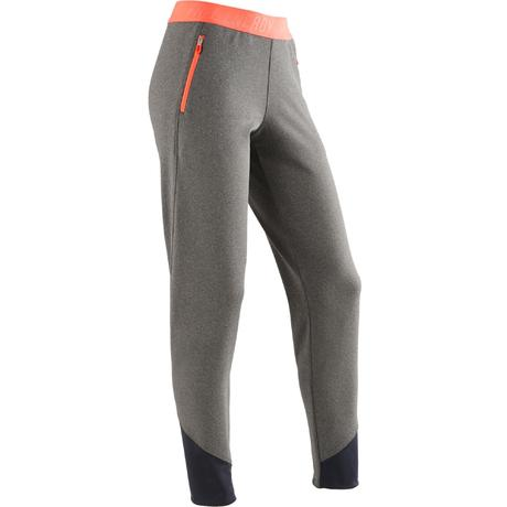 Pantalon slim S900 Gym Fille gris  4adab6f5217